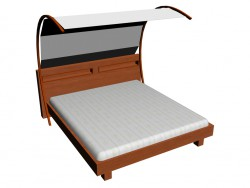 बिस्तर 180 x 200 + carport