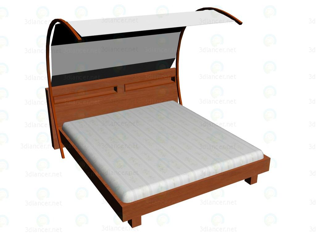 3d model Bed 180 x 200 + carport VOX - preview