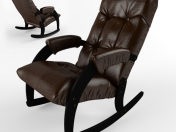 Rocking chair Comfort Model 67, upholstery Antik crocodile