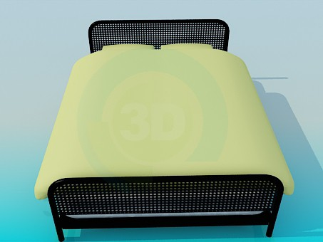 3d model Metal bed - preview