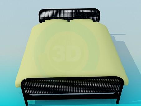 modelo 3D Cama del metal - escuchar