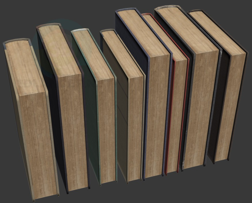 3d model old Books - preview