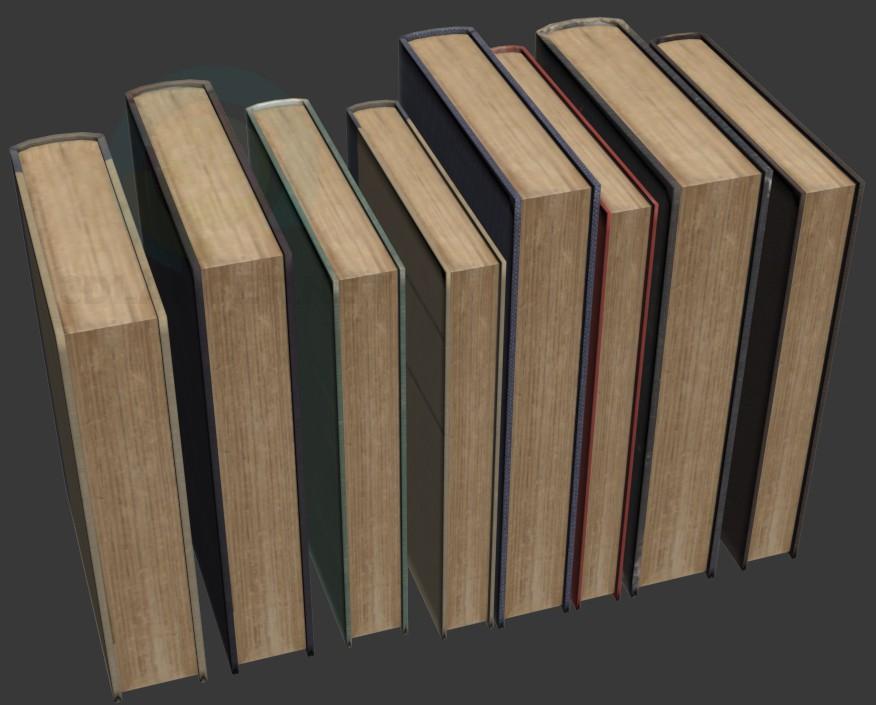 modelo 3D Libros antiguos - escuchar