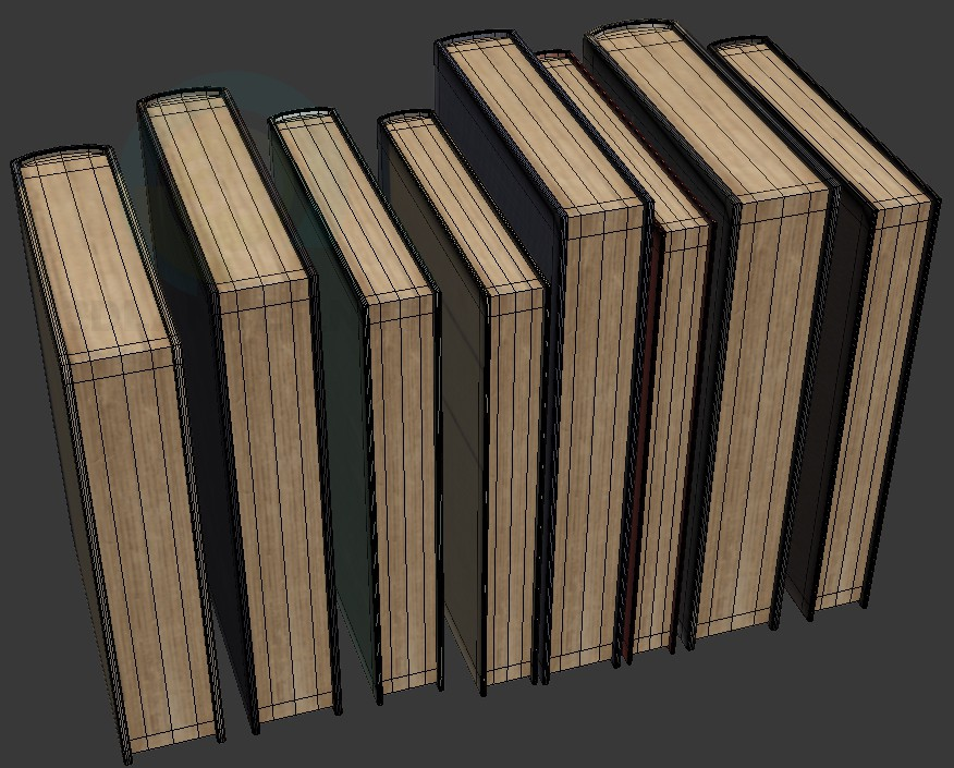 3d modeling old Books model free download
