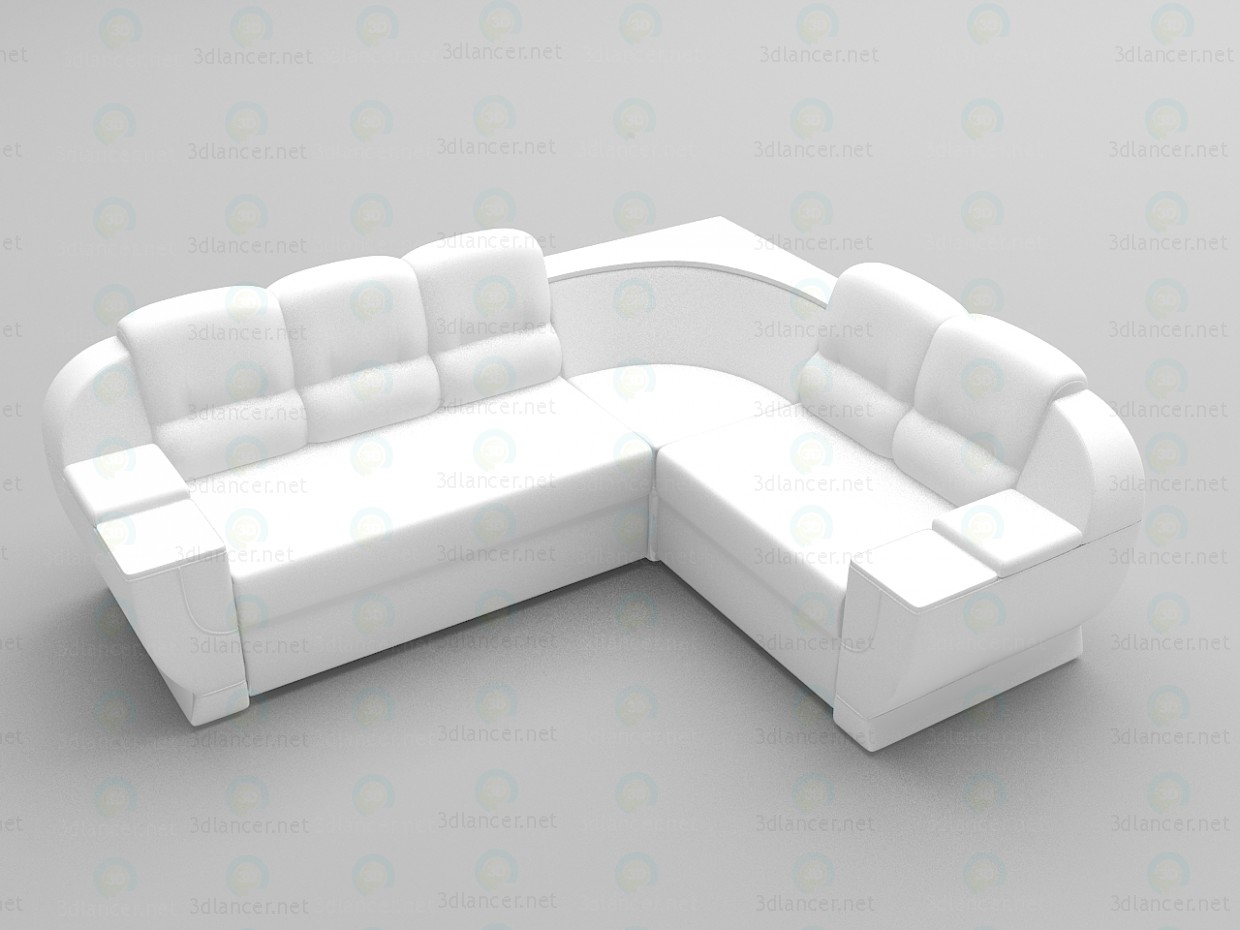 3d modeling Diamond sofa model free download