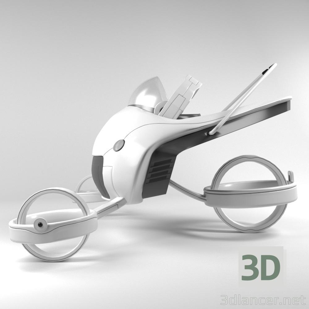 3d Futuristic Strollever Stroller model buy - render
