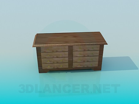 3d modeling Chest of drawers without handles model free download