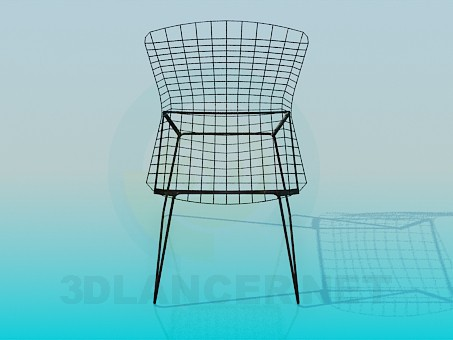 3d model Chair of the metal wire - preview