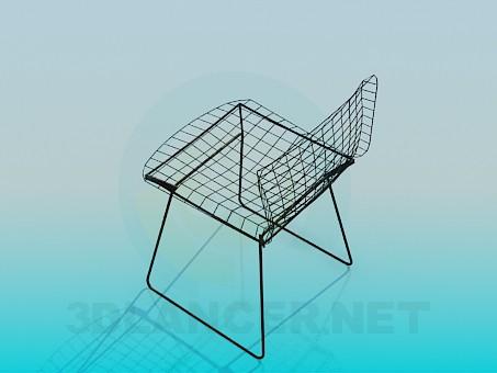 modelo 3D Silla del alambre de metal - escuchar
