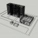 3d Nine-storey house 121 series with a store model buy - render