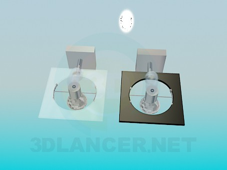 modelo 3D Lámpara de halógeno - escuchar