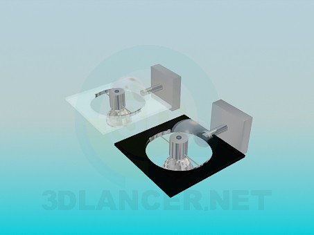 3d model Halogen Sconce - preview