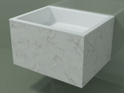 Lavatório suspenso (02R132301, Carrara M01, L 60, P 48, H 36 cm)