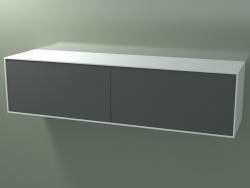 Caja doble (8AUGВB03, Glacier White C01, HPL P05, L 192, P 50, H 48 cm)