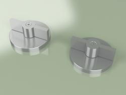 Set of 2 mixing shut-off valves (19 51 V, AS)