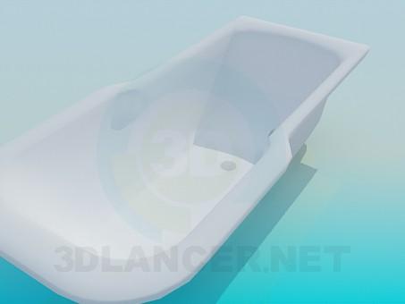 3d модель Ванна с расширением – превью
