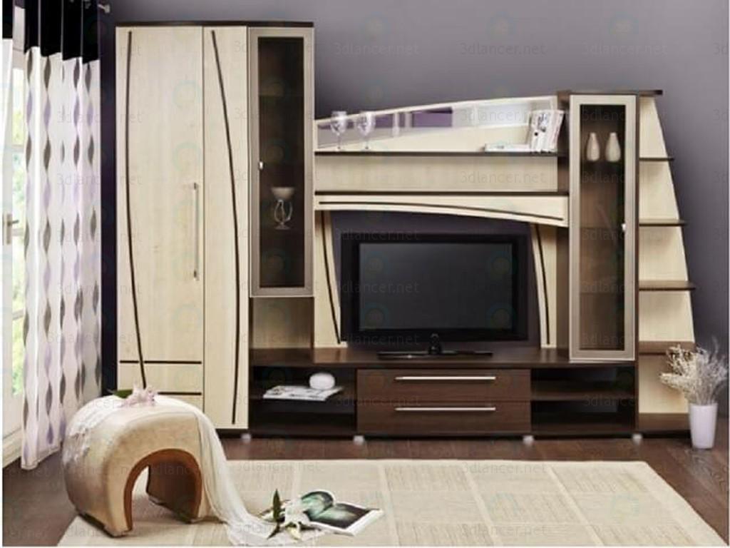 """3d моделирование Cтенка в гостиную """"Адель"""" модель скачать бесплатно"""