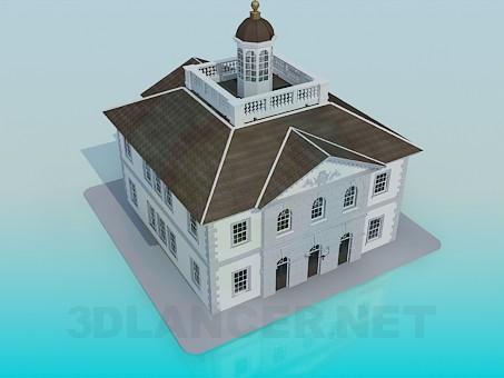 3d модель Будівля Будинку Культури – превью