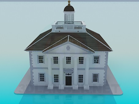 3d model Building the House of Culture - preview