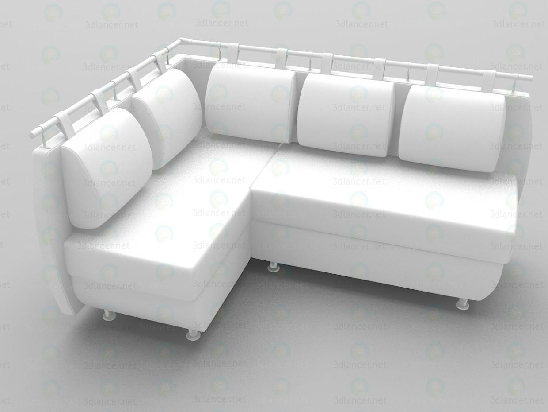 3d модель Угловой диван Джулия – превью
