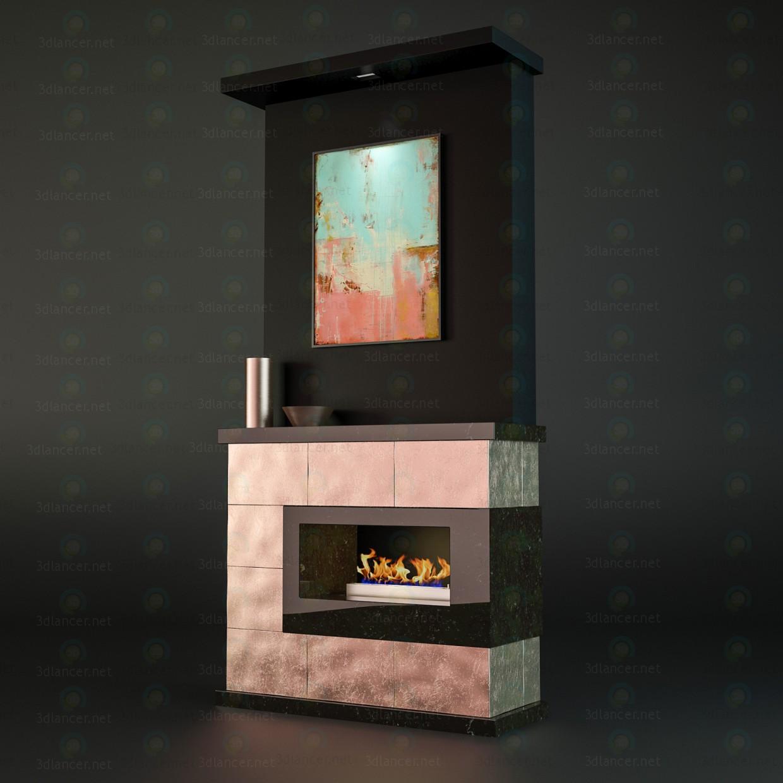 3d model chimenea - vista previa