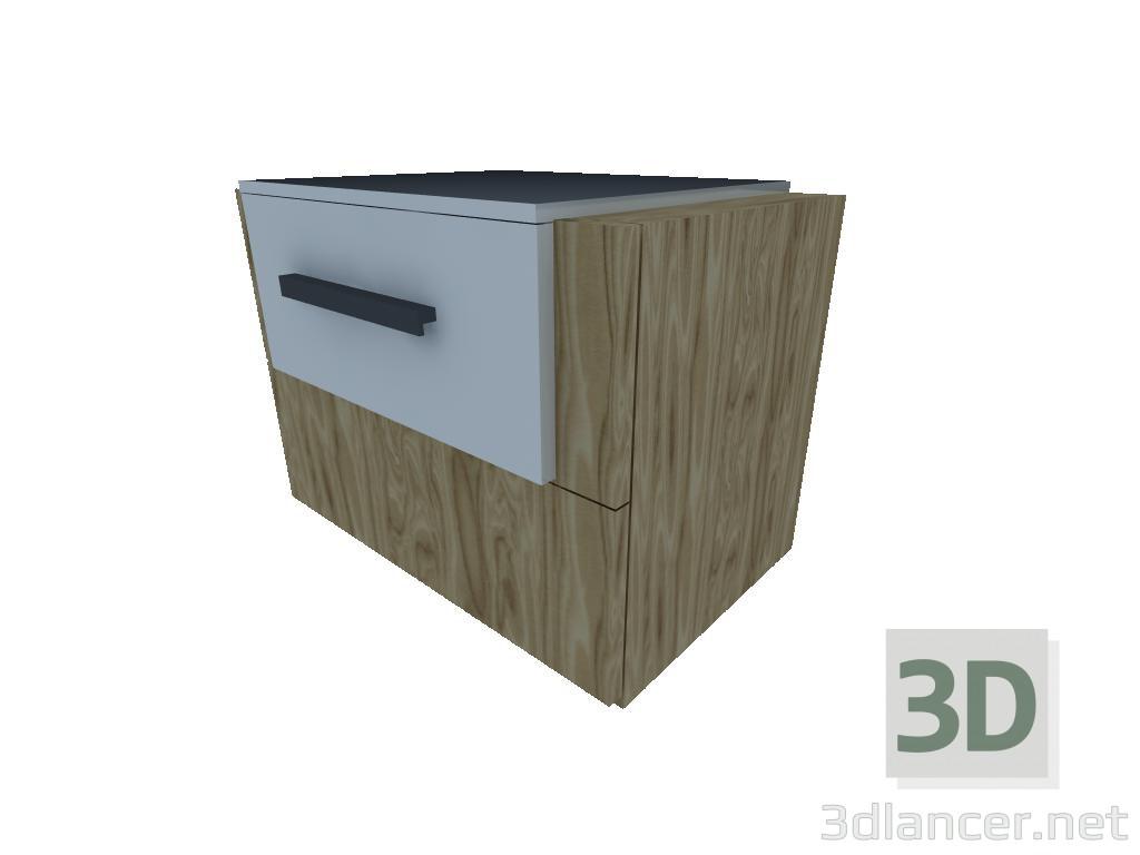 3d model bedside Cabinet - preview