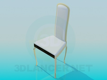 3d modeling Chair with high back model free download