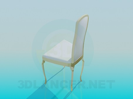3d model Chair with high back - preview