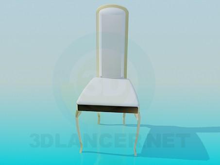 modelo 3D Silla con respaldo alto - escuchar