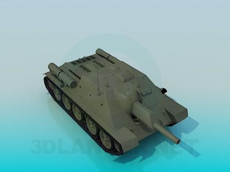 descarga gratuita de 3D modelado modelo Tanque SU-122