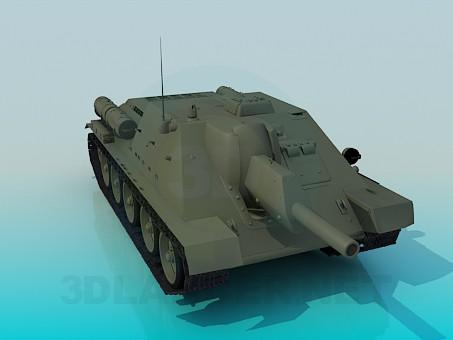 3d model Tank SU-122 - preview