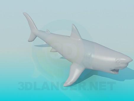 modelo 3D Tiburón - escuchar