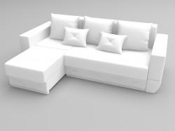 Canapé d'angle exotique