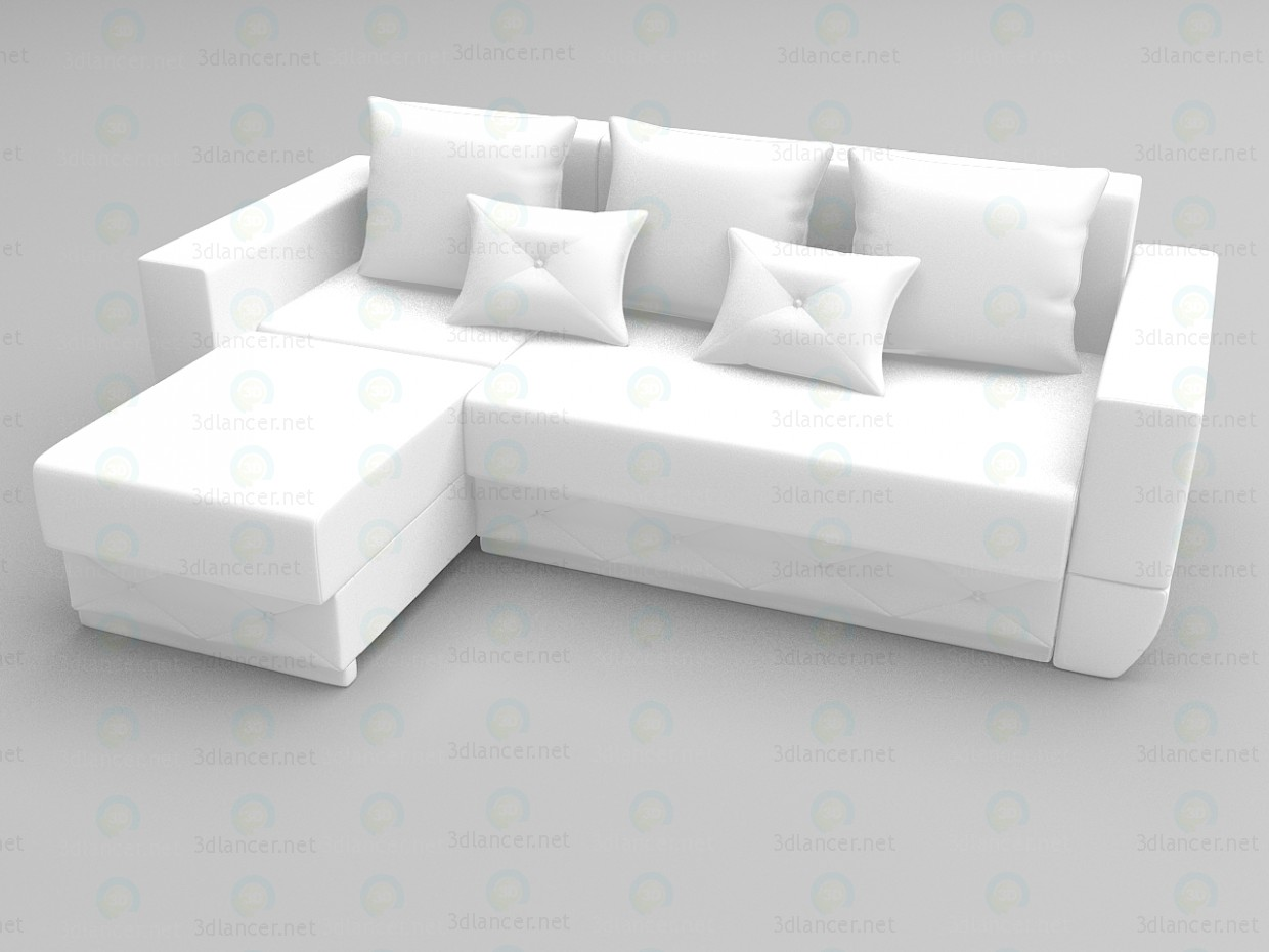 3d model Corner sofa Exotic - preview