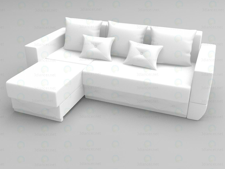 3d моделювання Кутовий диван Екзотик модель завантажити безкоштовно
