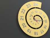 Reloj de pared de caracol