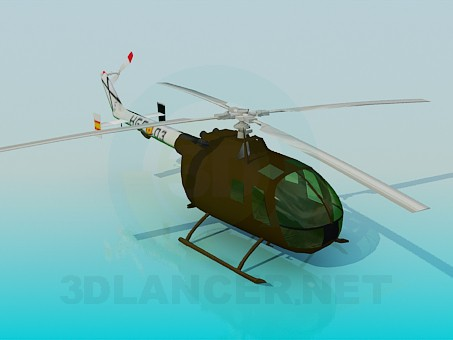 3d model Helicopter - preview