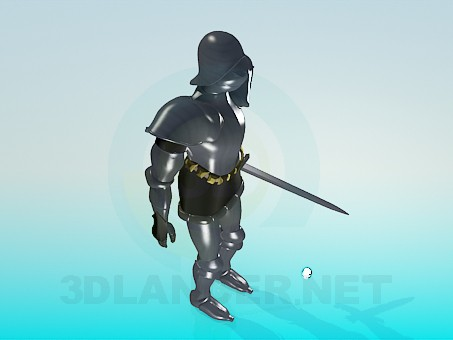 3d model Armor knight - preview