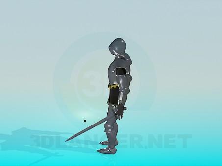 3d модель Доспехи рыцаря – превью