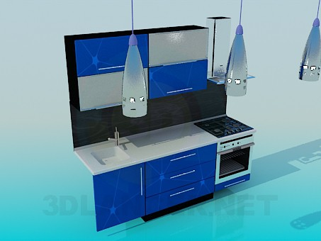 3d model Furniture in kitchen - preview