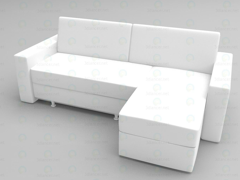 3d модель Угловой диван Евро – превью