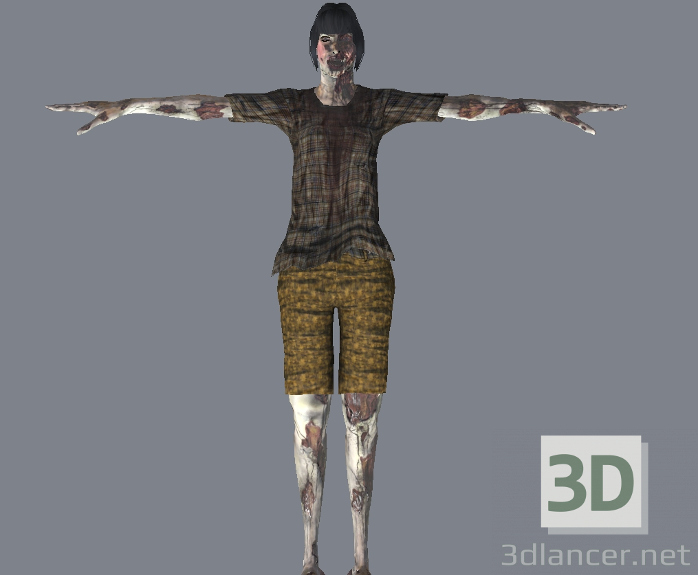 3d model zombi - preview