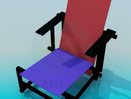 modelo 3D Sala de estar - escuchar