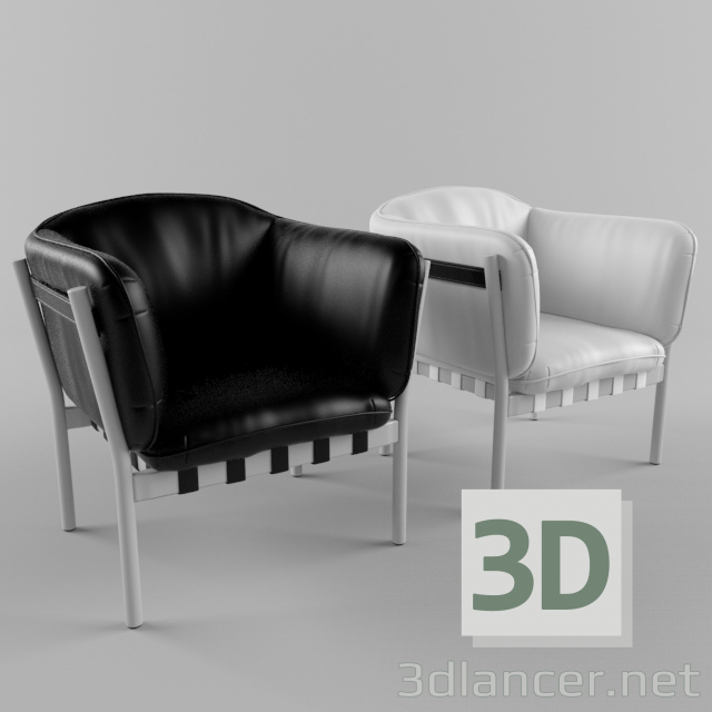 3d Leather chair Dowel by Ton model buy - render