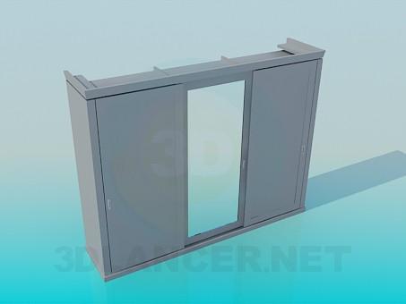 3d modeling Wardrobe with sliding door model free download