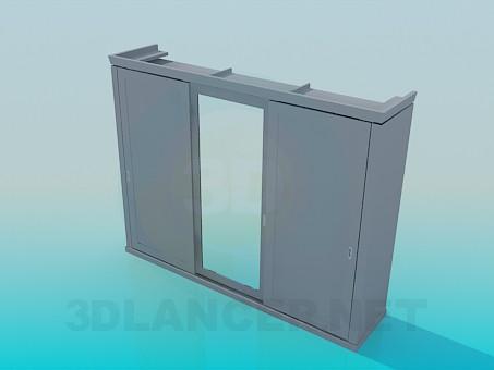 3d модель Шафа з розсувними дверима – превью