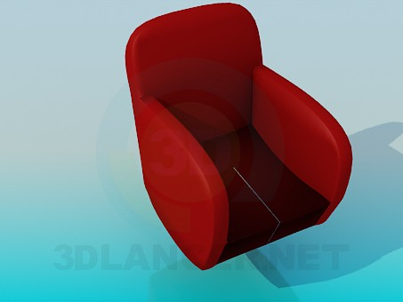 3d model Armchair with a tapered seat - preview