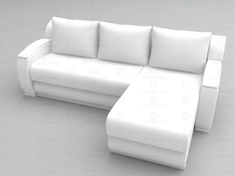 descarga gratuita de 3D modelado modelo Sofá de la esquina Kansas