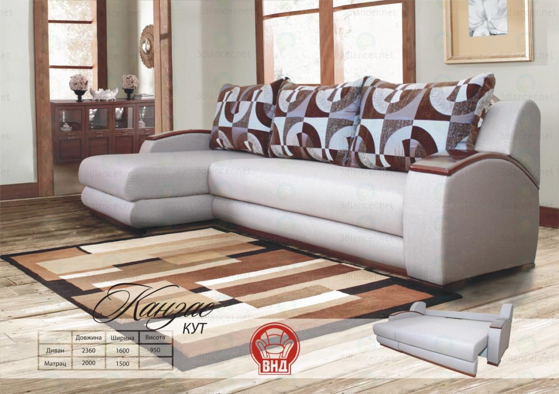 3d model Corner sofa Kansas - preview