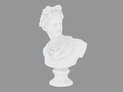 Busto in marmo di Busto di Apollo Belvedere